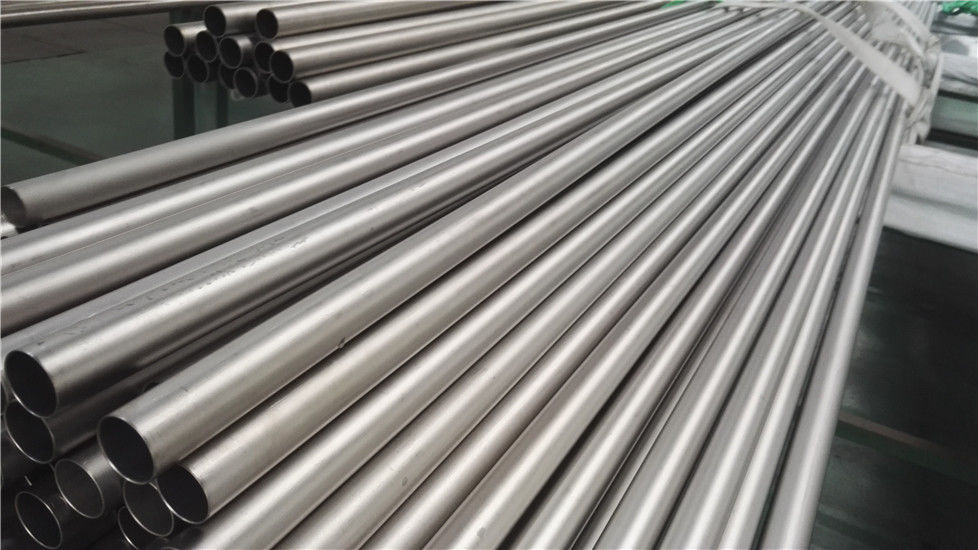 Grade 9 Seamless Titanium Tubing , High Accuracy Long Round Hollow Tube